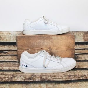 Fila White Leather Sneakers Size 9